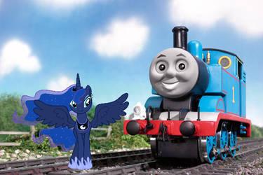 Thomas And Princess Luna by ThomasandMLPPerson