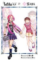 Liliha and Sasa by Tsuyoko