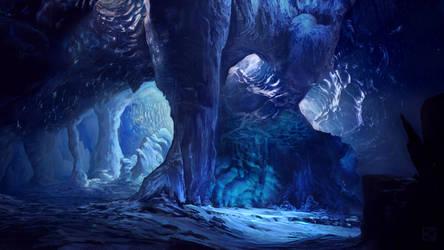 Glacier Cave by Apollyon888