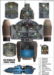Gunboat interior by 0-hr