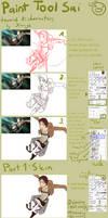 Paint Tool Sai easy tourial #1: character - Eren by Karaye