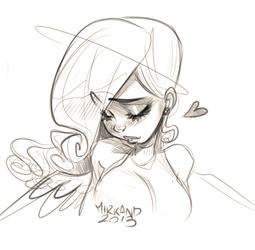 Angelina Sketch by MirkAnd89