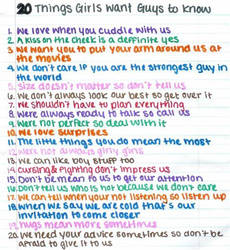 20 things girls want guys to know by keygo1