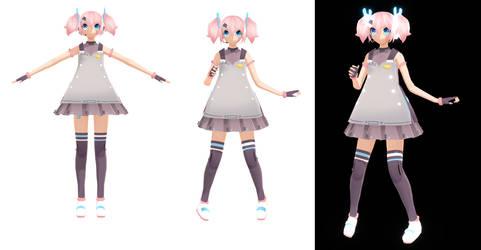 MMD NEWCOMER::Nanami Yano by KittyBizcuits