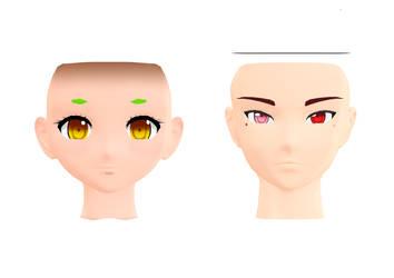 MMD::Kio Algaeloid Faces (WIP) by KittyBizcuits