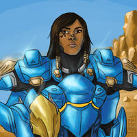 Pharah by nuttynachos