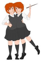 twins by megibabe