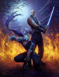 Ninjas - Commission by Viccolatte
