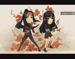 Kotohime and Ayumi by Km92
