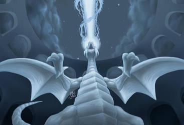 Blue-Eyes White Dragon by EvilNightDragon