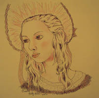 Cosette in ballpoint by Moundfreek