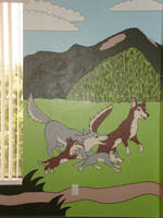 Mural: Coyotes by Moundfreek