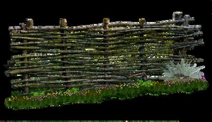 Weaved Wooden Fence PNG.. by AledJonesDigitalArt