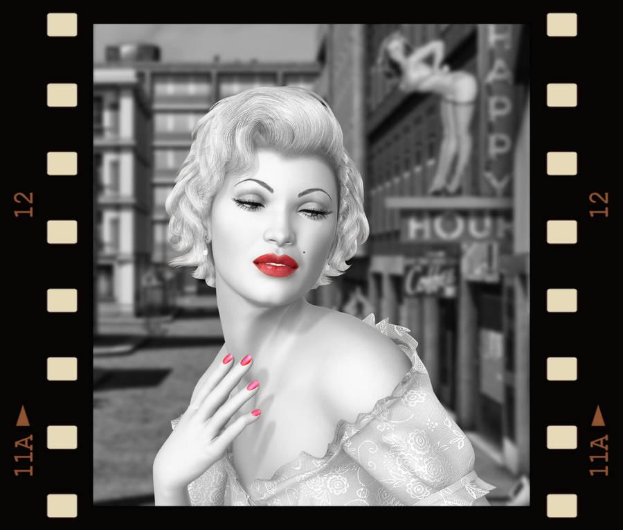 Marilyn.. by AledJonesDigitalArt