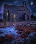 Spooky chapel premade.. by AledJonesDigitalArt