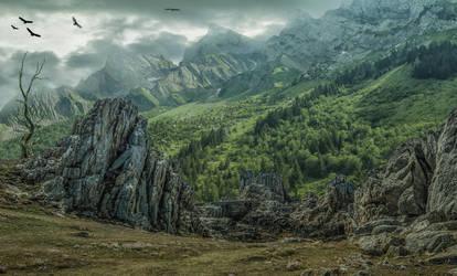 Where Eagles Fly.. by AledJonesDigitalArt