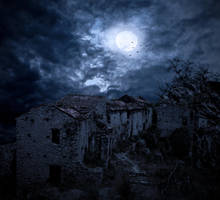 The Abandoned Village.. by AledJonesDigitalArt