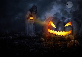 The Giant Pumpkin.. by AledJonesDigitalArt