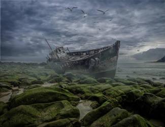 The Old Boat.. by AledJonesDigitalArt