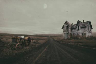 Abandoned Road.. by AledJonesDigitalArt