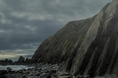Rocky Shoreline Premade Background.. by AledJonesDigitalArt