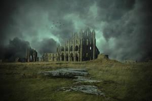 The Old Abbey.. by AledJonesDigitalArt