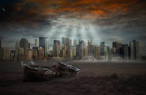 Apocalyptic City.. by AledJonesDigitalArt