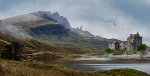 Lakeside Castle.. by AledJonesDigitalArt