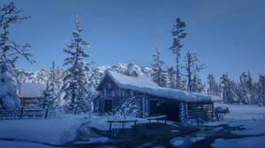 Winter scene Colter.. by AledJonesDigitalArt