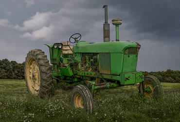Old John Deere.. by AledJonesDigitalArt