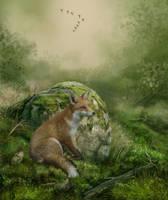 Red Fox.. by AledJonesDigitalArt