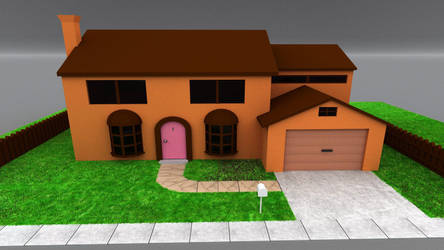 The Simpsons House by the-undrawable
