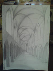 Gothic cathedral by Cienista