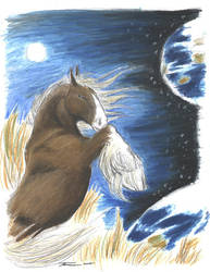 Horse and Tiger Earth:Horse by ebonytigress