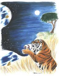 Horse and Tiger Earth:Tigress by ebonytigress