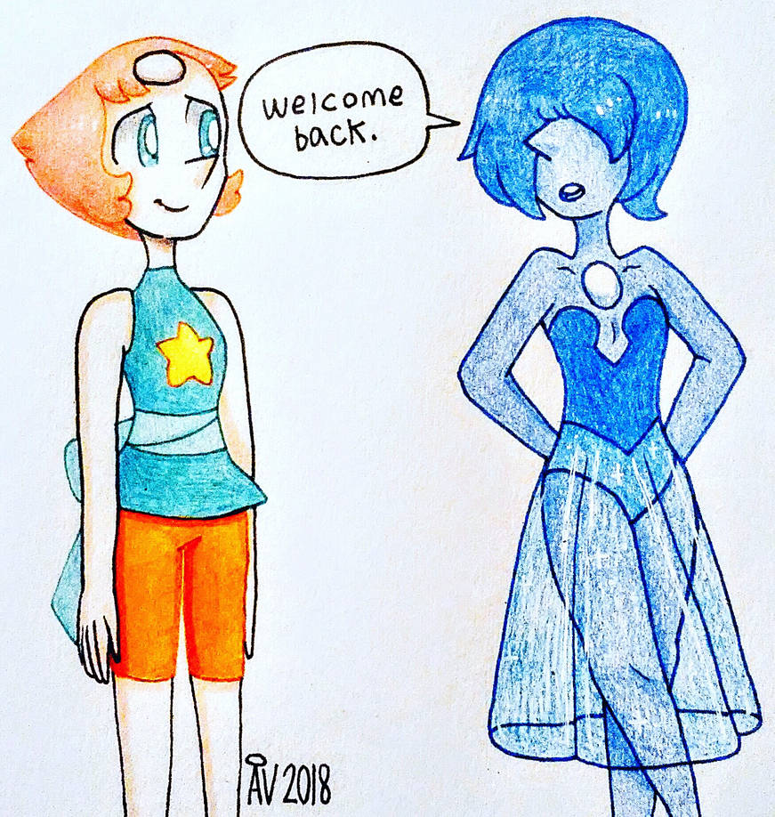 Honestly, I wonder how Pearl will react to the other pearls after being away from them for so long. Really makes ya think. :mc Steven Universe © Rebecca Sugar and Cartoon Network Art ©
