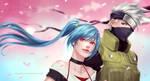Comm: Mina and Kakashi by MieuDo