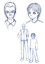 Sketch: Evil Genius by hamichiru