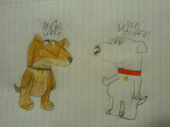 Vinnie Griffin And Brian Griffin by CilanDPFanGirl