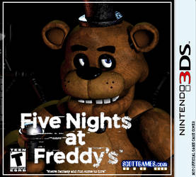Five Night's at Freddy's 3DS Game Case Cover by CoreMindsArtist
