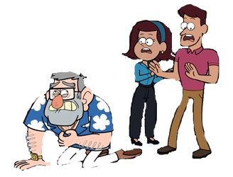 Gravity Falls: Stan, Women And Man, png by eileenmh123