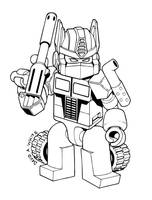Transformers Optimus Prime Kre-O coloring Page by Mecha-Zone