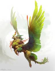 Creature Design - Jungle Griffin by ChristopherOnciu