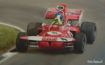 Ronnie Peterson in a March 711, at Brands Hatch by huckerback6