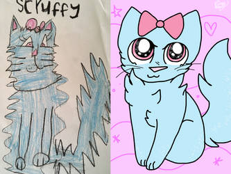 Redraw of a 6 year old drawing! by DarkleyChaos