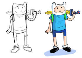 Adventure Time Finn doodle by GeorgeRottkamp