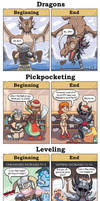 DORKLY: Skyrim Beginning vs End by GeorgeRottkamp