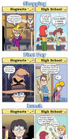 DORKLY: Harry Potter School vs. Regular School by GeorgeRottkamp