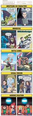 DORKLY: Star Wars Rogue One Vs. The Phantom Menace by GeorgeRottkamp