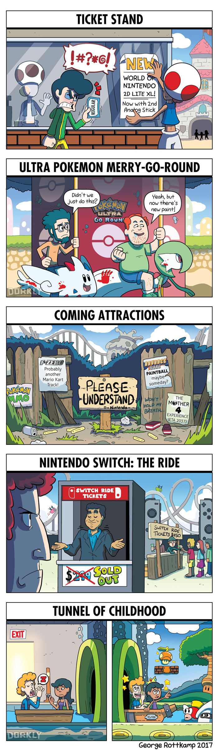 DORKLY: What a Nintendo Theme Park Would Look Like by GeorgeRottkamp